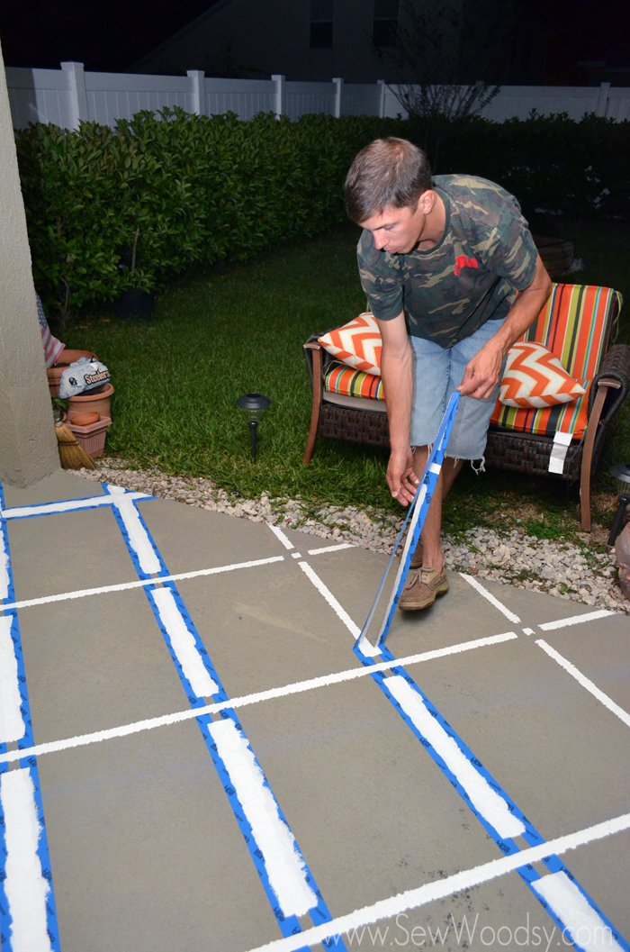 Lovely 3M ScotchBlue™ Painters Tape Outdoor Painted Patio
