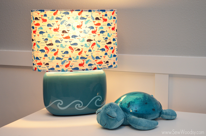 DIY Nursery Whale Lamp