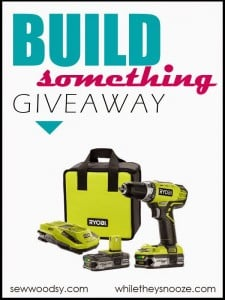 Build Something Giveaway!