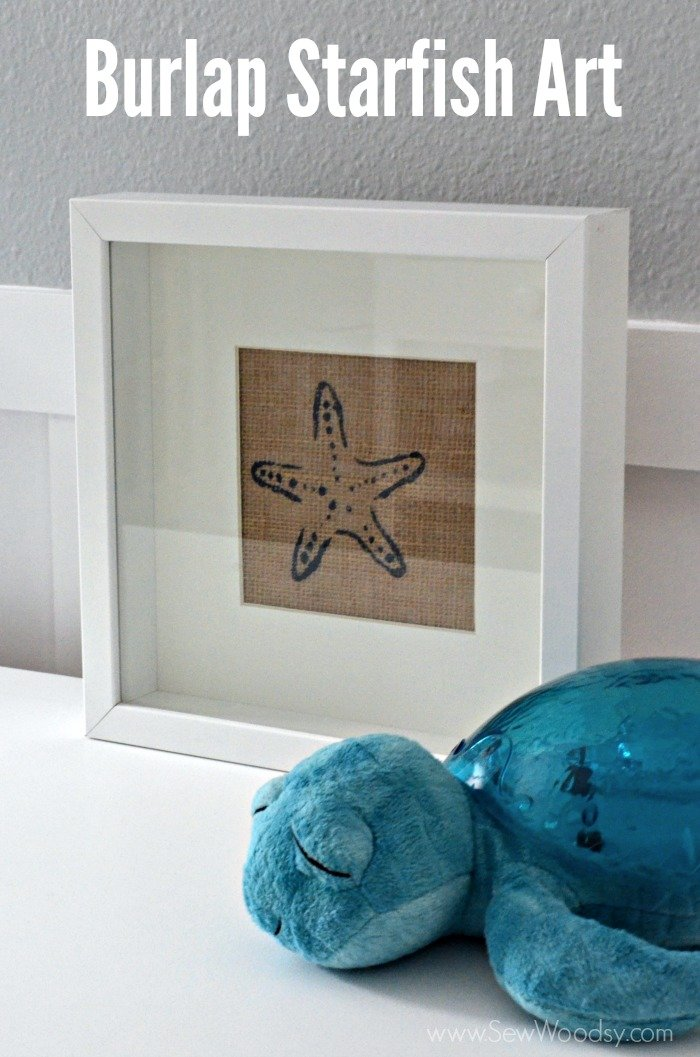 EASY 30 Minute Craft Project >> Burlap Starfish Art #12MonthsOfMartha #MarthaStewartCrafts #Craft #beach