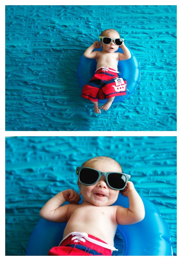 Pool Baby - Newborn Photography Session