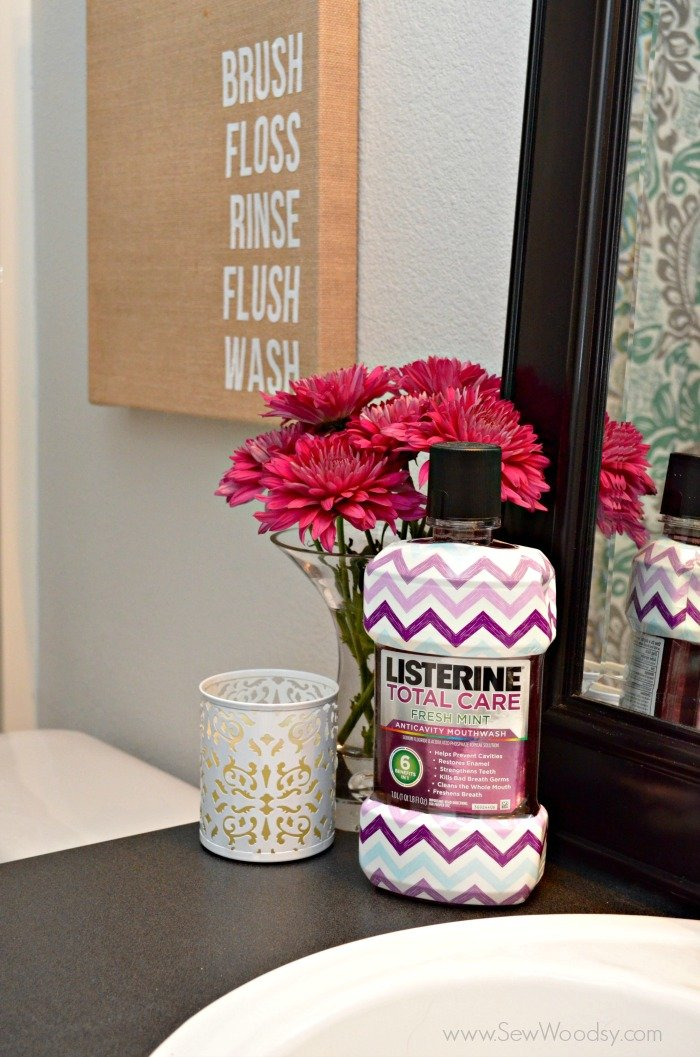 diy burlap bathroom art  #ListerineDesign #bathroom #DIY