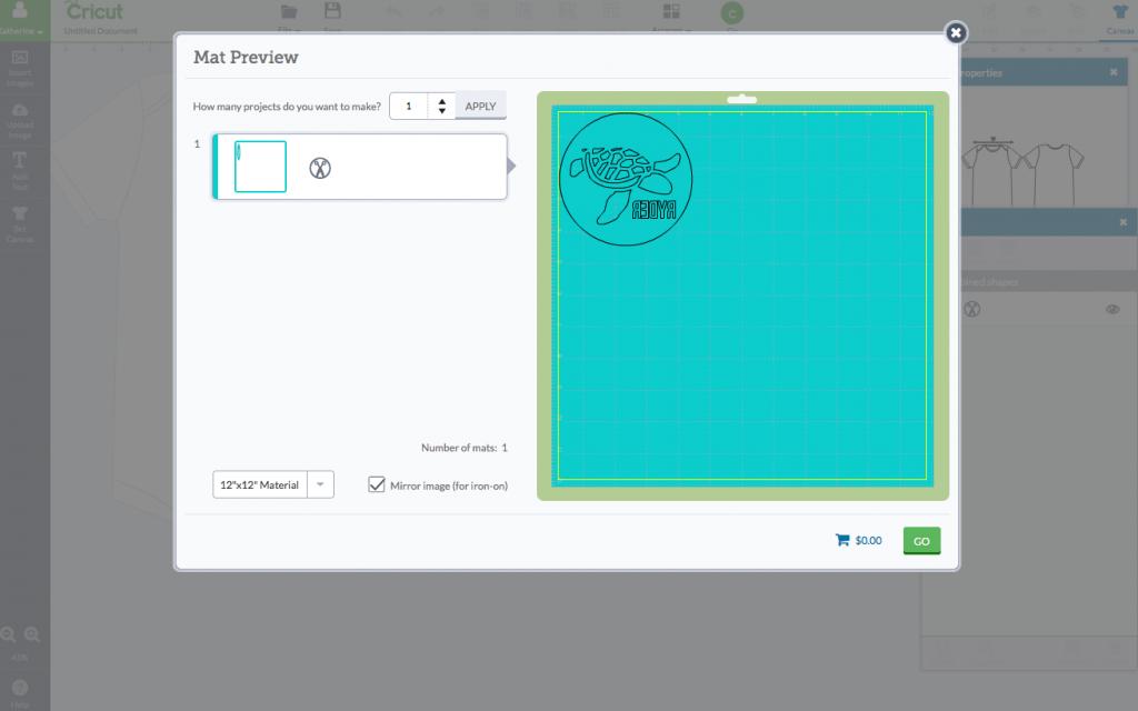 Cricut Design Space - Cut Page