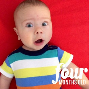 Four Months Old! #babywoodsy