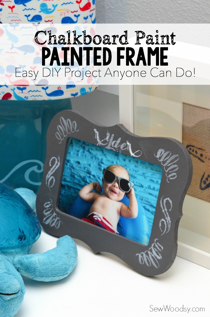 Chalkboard Paint - Painted Frame #12MonthsOfMartha