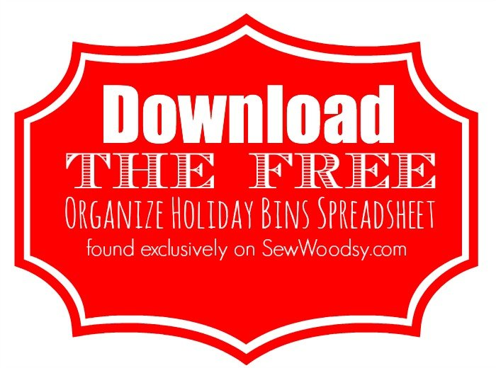 Download the free Organize Holiday Bins Spreadsheet