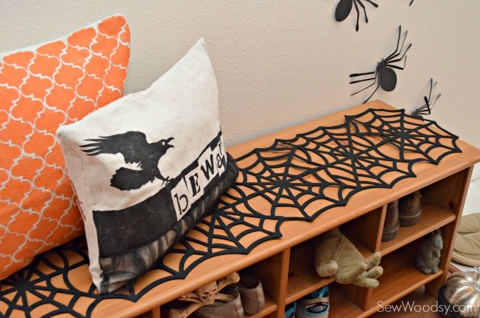 Halloween Pillows and Spider Runner