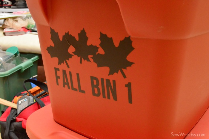 Organize Holiday Bins