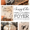 Scary Chic Halloween Foyer #12monthsofmartha #halloweendecor