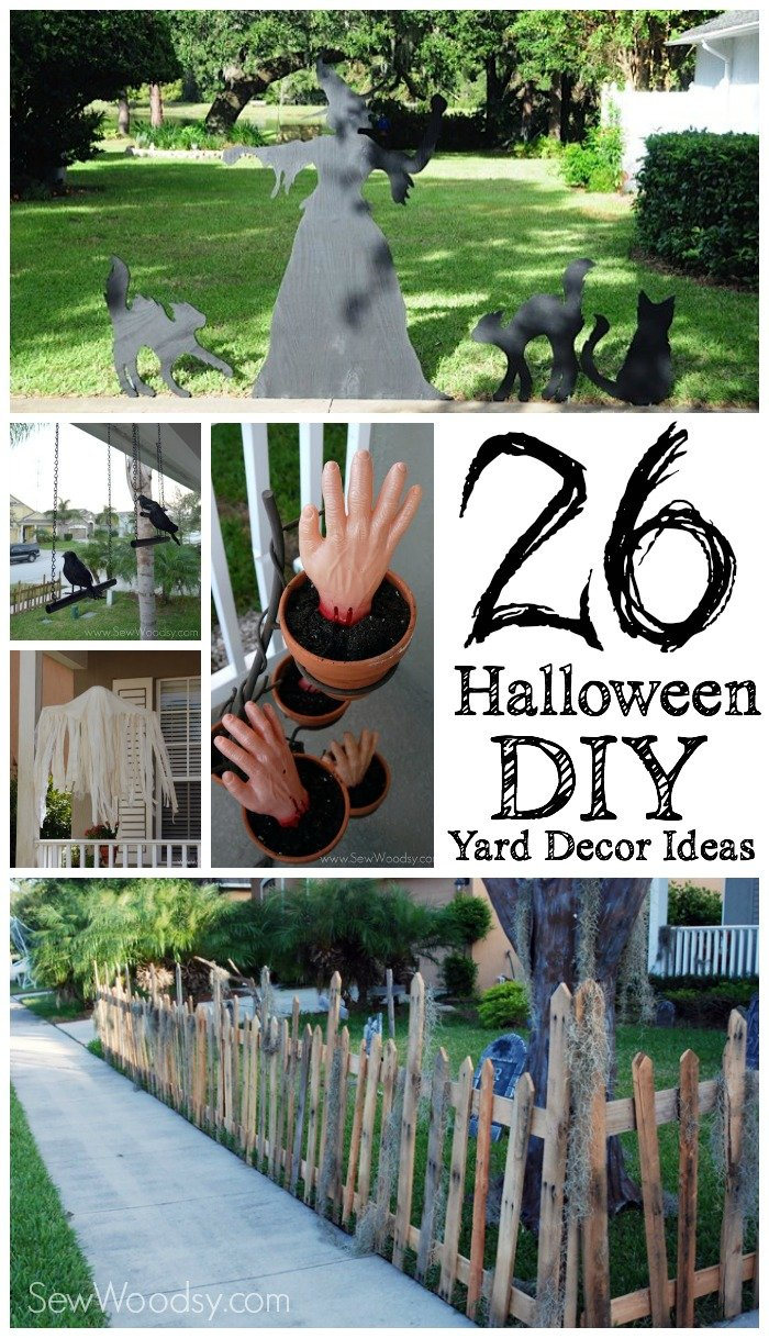 26 halloween diy yard decor ideas | sew woodsy