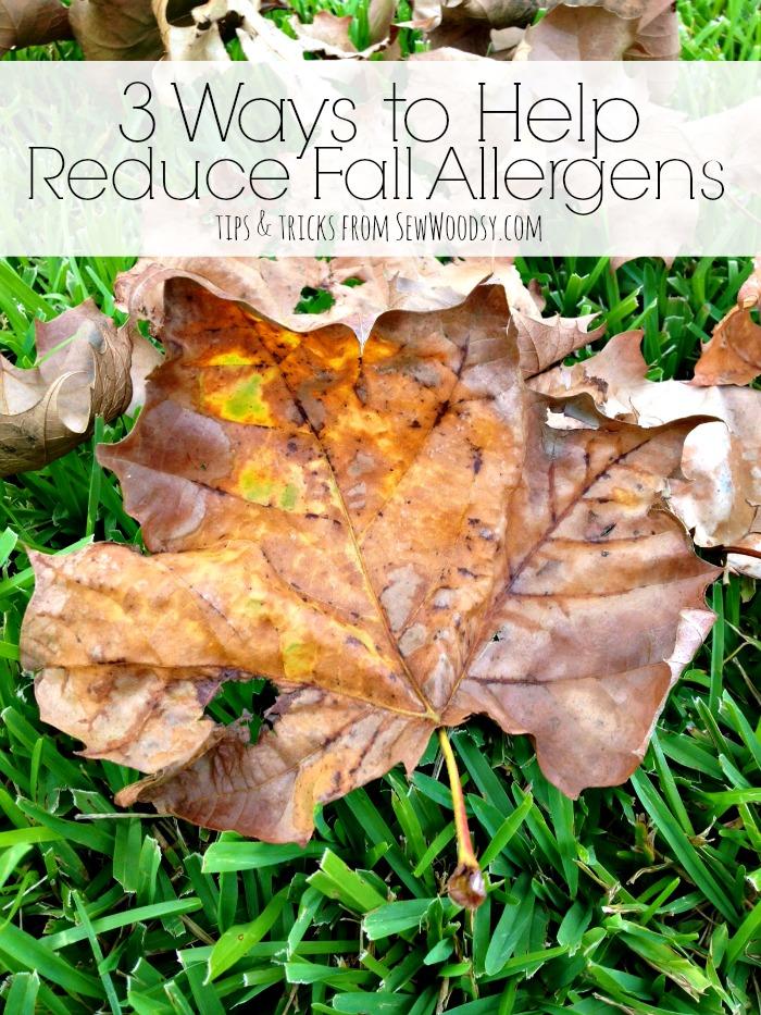 3 Ways to Help Reduce Fall Allergens #HealthierHome