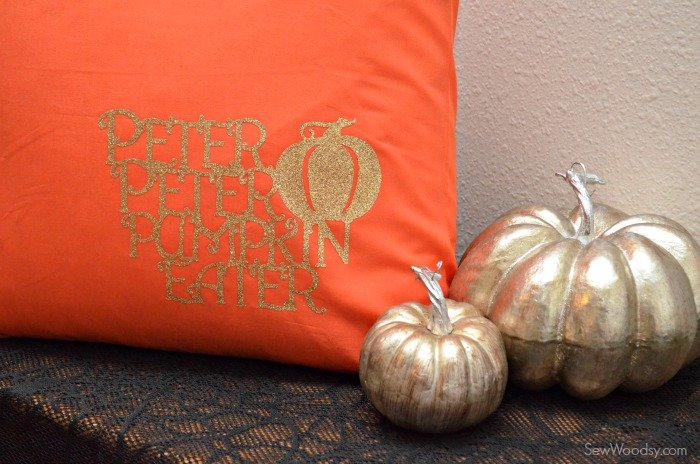 DIY Glitter Peter Peter Pumpkin Eater Pillow