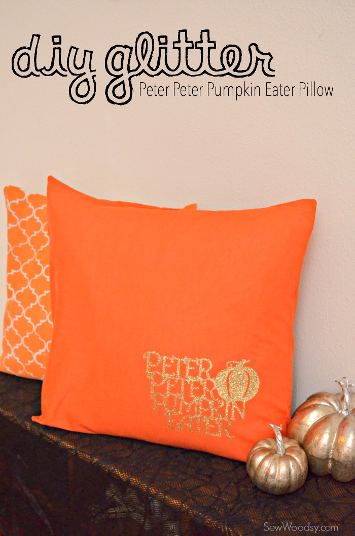 DIY Glitter Peter Peter Pumpkin Eater Pillow 12