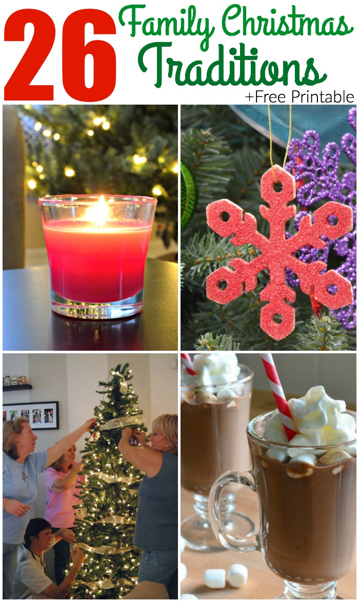 26 Family Christmas Traditions + Printable