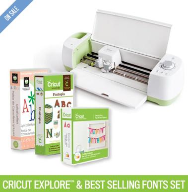 Cricut Explore® Machine + Best-Selling Fonts Set