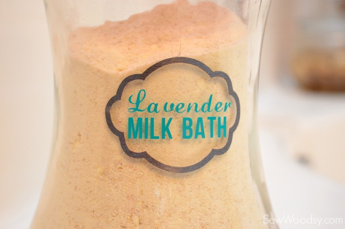 DIY Lavender Milk Bath with Label 16