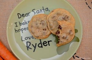 DIY Personalized Santa Cookie Plate