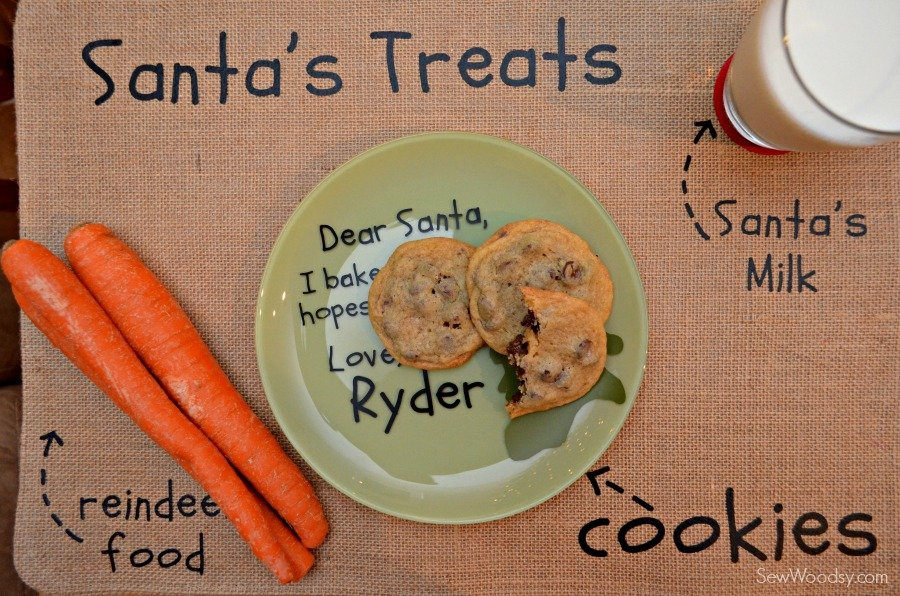 DIY Santa's Cookie and Milk Placemat 12