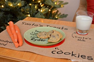 DIY Santa's Cookie and Milk Placemat