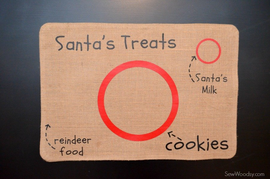 DIY Santa's Cookie and Milk Placemat 14