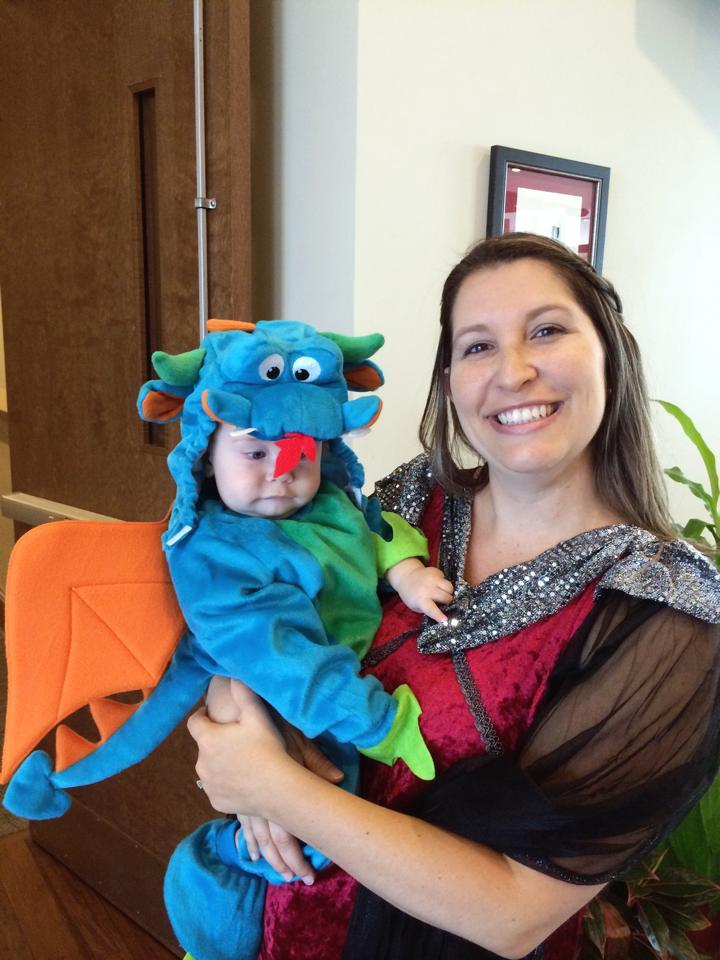 baby dragon costume with princess