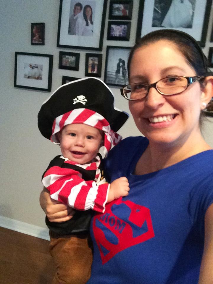 baby pirate costume selfie