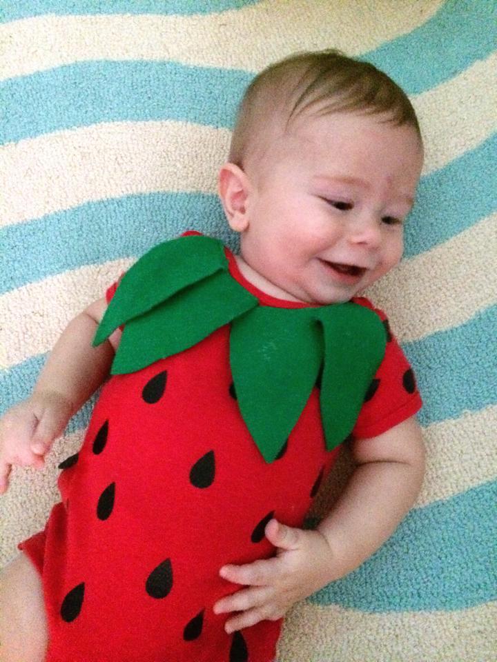 baby strawberry costume