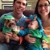 dragon baby costume and dog