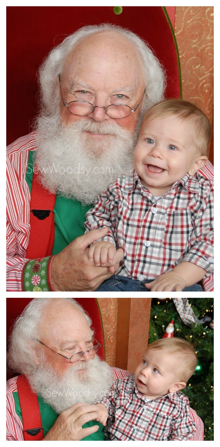 Baby's First Santa Photos