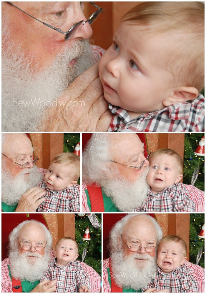 Crying Baby Santa Photo