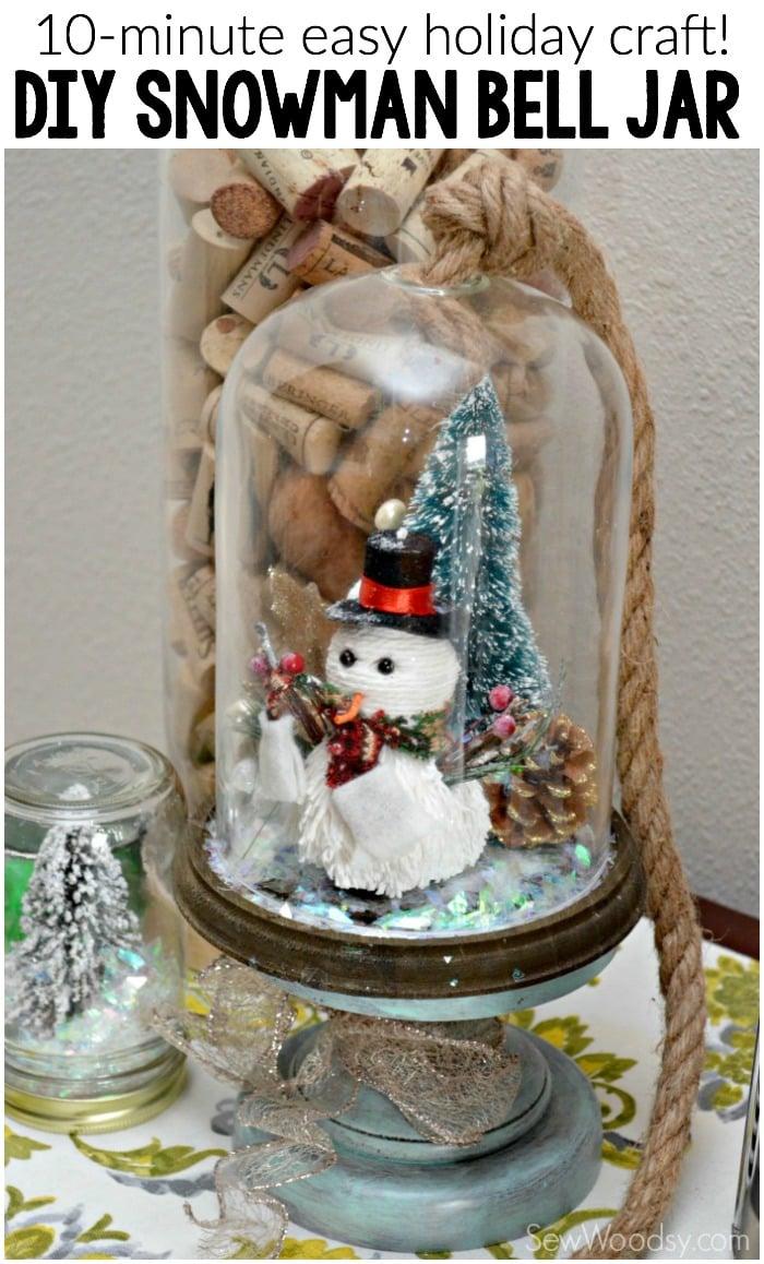 DIY Snowman Bell Jar