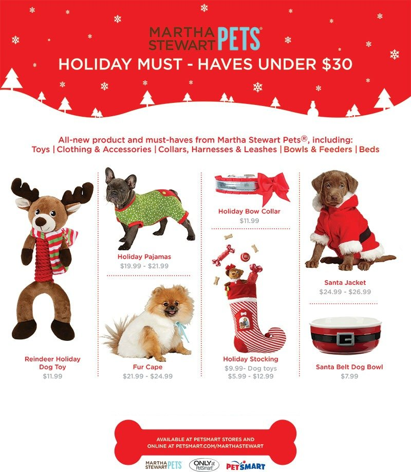 martha stewart pets holiday must haves under 30 christmas - Christmas Must Haves