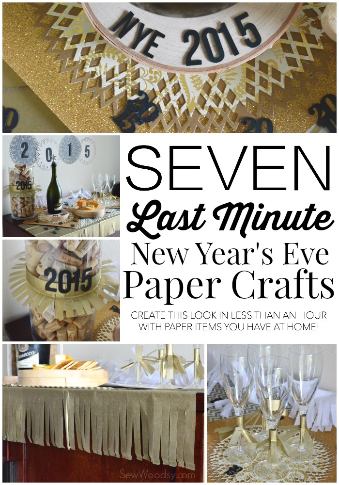 Seven Last Minute New Year's Eve Paper Crafts