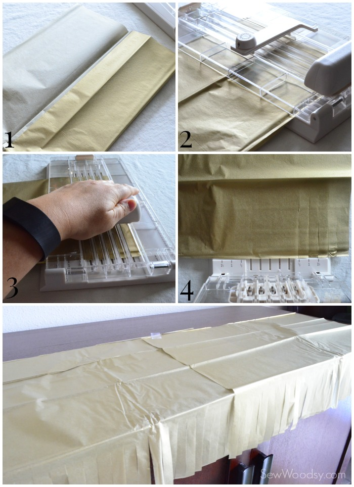 Tissue Paper Fringe Table Runner