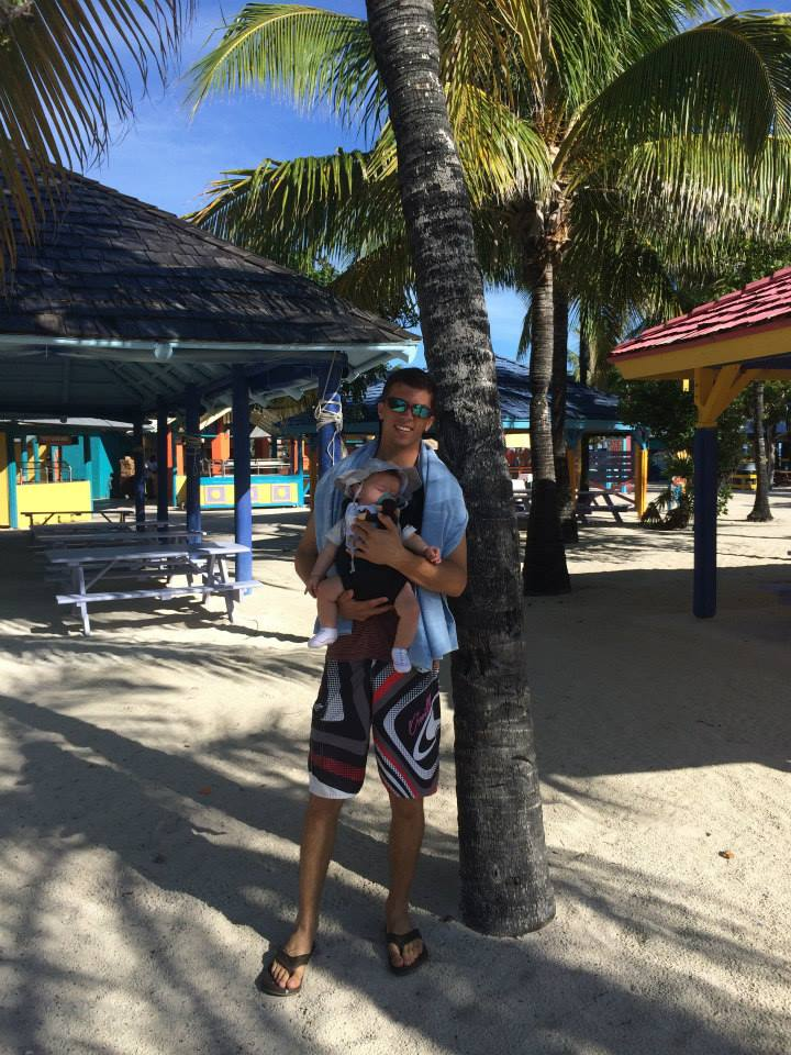 Cruising with an Infant asleep in coco cay