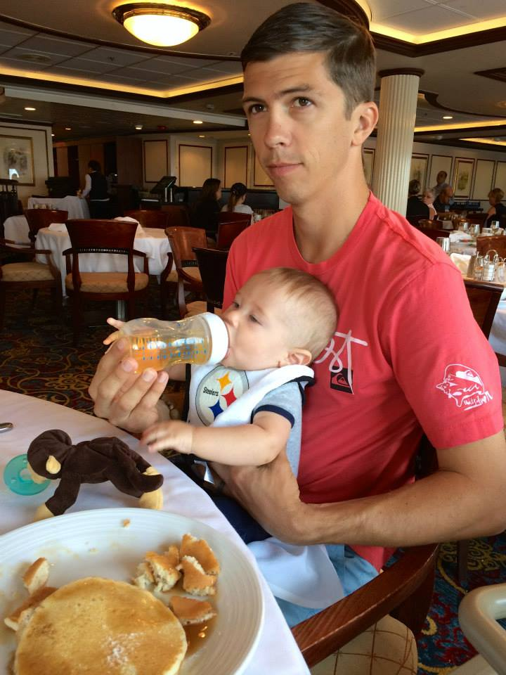 Cruising with an Infant breakfast in the dining room