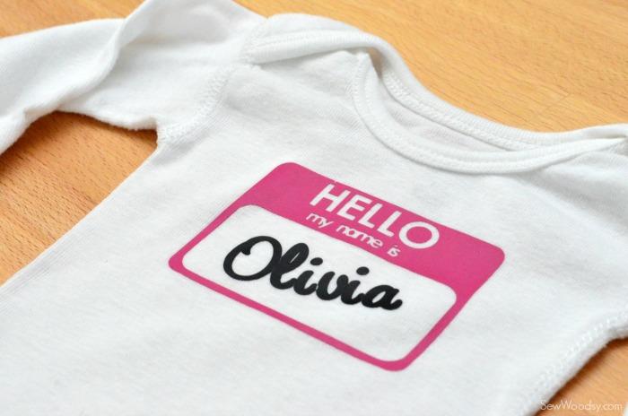 Hello My Name Is Olivia Onesie