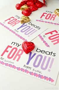 My Heart Beats For You Valentine Card