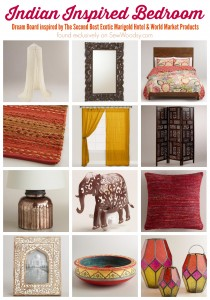 Indian Inspired Bedroom – Vision Board