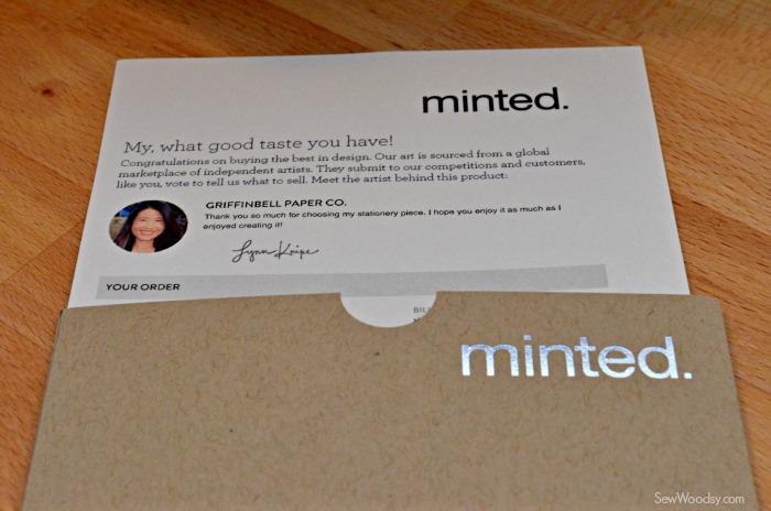 Minted Order Letter