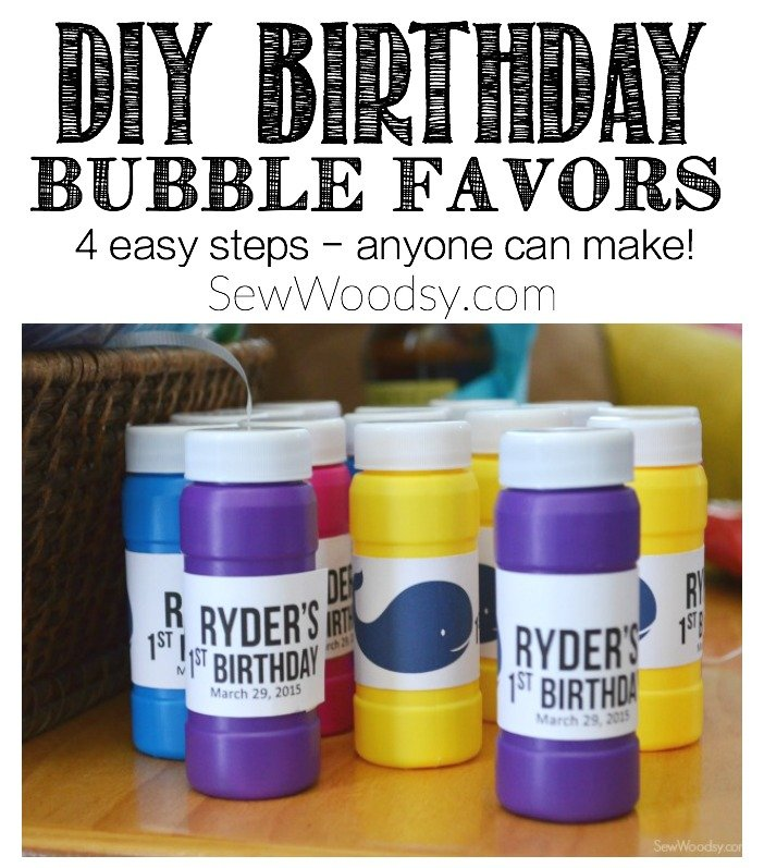 DIY Birthday Bubble Favors Anyone Can Make