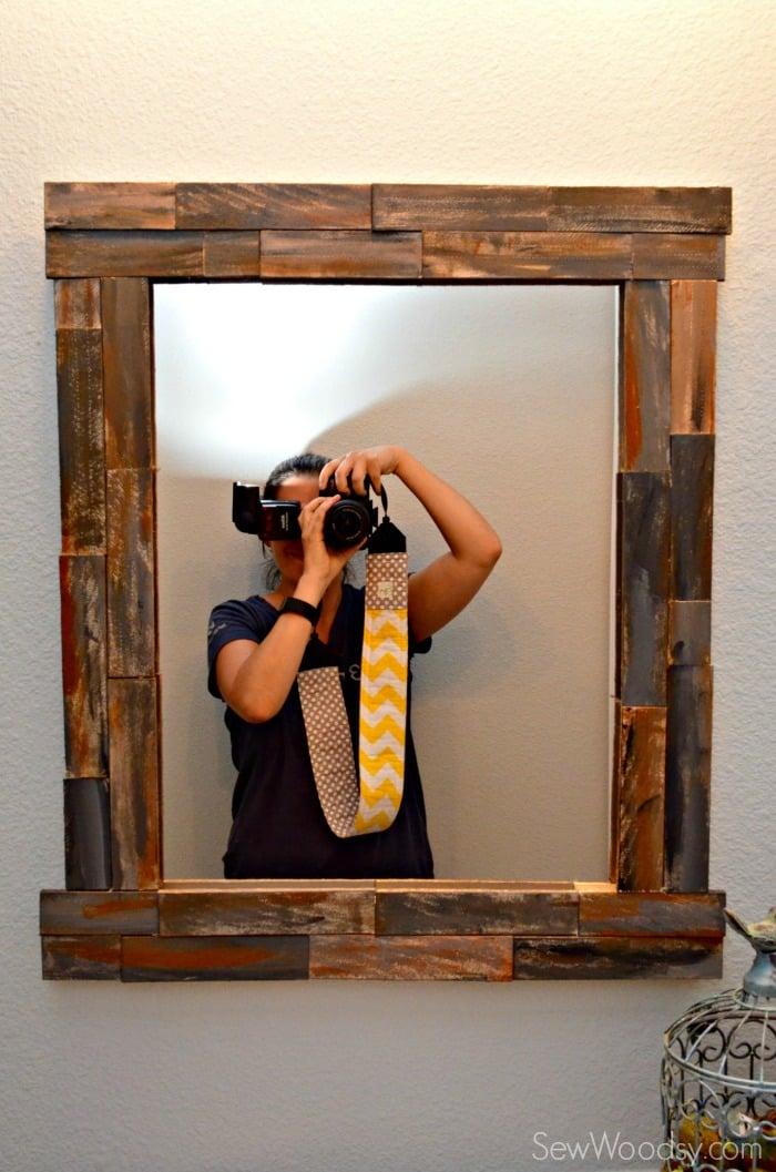 DIY Rustic Decorative Mirror - Sew Woodsy