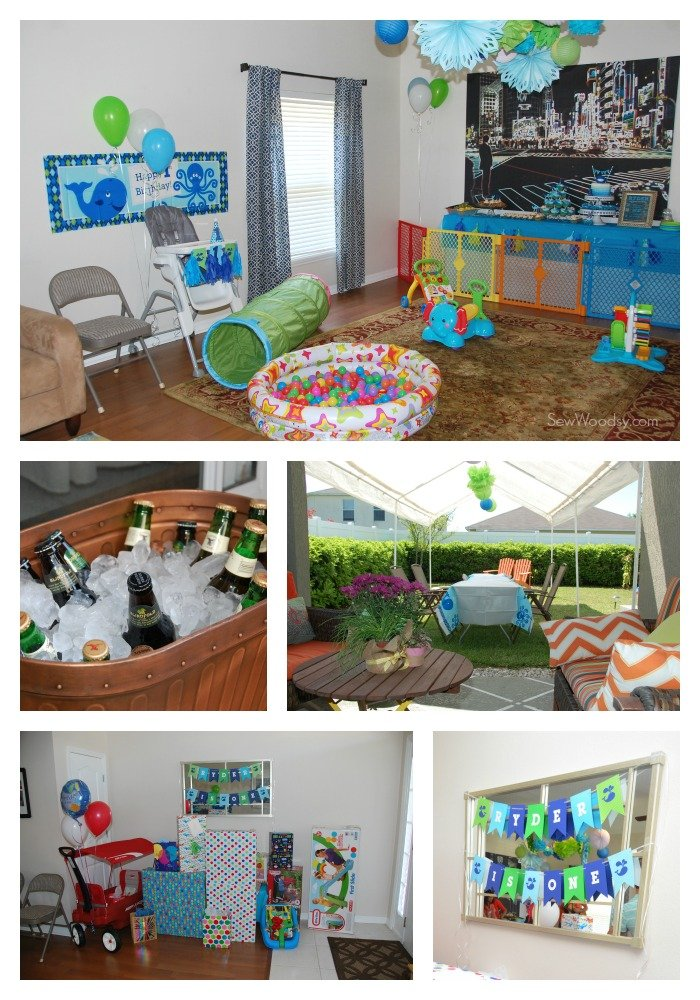 Whale Birthday Party Decor