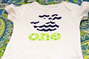 DIY first birthday onesie