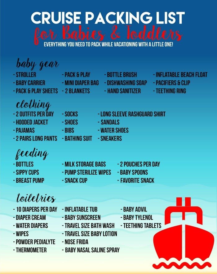 Cruise Packing List for Babies & Toddlers | Sew Woodsy