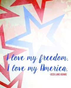 I love My Freedom I love my America Free Downloadable Printable