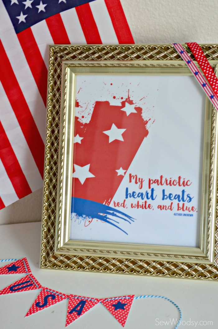 Download this FREE Printable Now!!! My Patriotic Heart Beats Red, White, and Blue