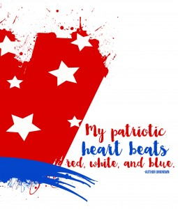 My patriotic heart beats red, white, and blue