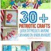 30+ Patriotic Crafts - quick DIY projects anyone can make in under an hour!