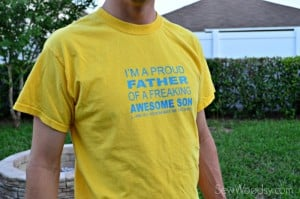 DIY I'm A Proud Father T-Shirt